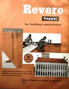1959 Revere Copper And Brass Catalog Asbestos Asphalt Elastic Cement Roofs Roofing