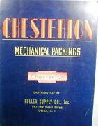 A. W. Chesterton Mechanical Packing Gaskets Catalog Asbestos 1940