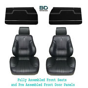 1970 Chevelle Touring Ii Front Bucket Seats Assembled And Assembled Door Panels