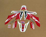 2004 - 2019 Honda Crf 50 Graphics Crf50 Red Black Motocross Stickers Decals Kit