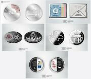 Georgia Set Of 5 Silver Amazing Collector Coins From 2019 5 ₾ Lari Gel Rare