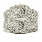 Levian Diamond Buckle Ring In 18k White Gold
