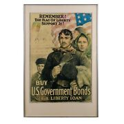 Wwi 3rd Liberty Loan Remember The Flag Of Liberty Poster