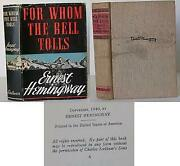 Ernest Hemingway / For Whom The Bell Tolls First Edition 1940 010501