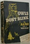 Erle Stanley Gardner As A A Fair / Owls Donand039t Blink First Edition 1942 108178