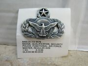 Usaf Security Police Qualification Badge Insignia Master Us Air Force 1988 Nos