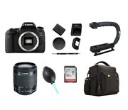 Canon Eos Rebel T6i W/ 18-55mm Lens And Multiple Accessories