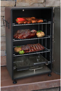 Upright Smoker Cooker Barbecue Bbq Grill Electric Outdoor Glass Viewing Window