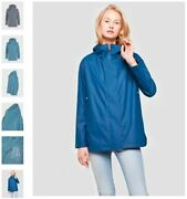 258 Save The Duck Womenand039s Hooded Rain Navy Trench Coat Jacket Size 1 - Small