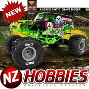 Axial Axi03019 1/10 Smt10 Grave Digger Monster Jam Truck 4wd W/ Radio/esc /motor
