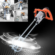 1600w Portable Electric Mortar Mixer Cement Concrete Plaster Grout Paddle Drill