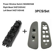 3pcs Power Window Switch And Bezel Cover For Dodge Ram 1500 2500 3500 2002-2010