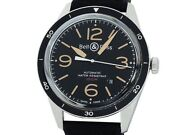 Bell And Ross Vintage Sports Heritage Br123-92 Automatic Black Ss Rubber 43mm Mens