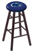 Maple Extra Tall Bar Stool In Dark Cherry Finish With Penn State Seat By The ...