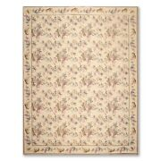 9andrsquo X 11andrsquo11 Asmara Hand Woven Botanical Wool French Needlepoint Area Rug Beige