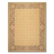 8andrsquo1x11andrsquo6 Asmara Hand Woven 100 Wool French Aubusson Needlepoint Area Rug Gold