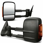 Dna Motoring Twm-001-t888-bk-am Pair Of Towing Side Mirrors Driver And Passenge...