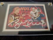 1991-92 Upper Deck Heroes Brett Hull Signed Auto On Card 9 Signed Auto Proof