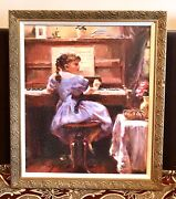 Vintage Russian Michail And Inessa Mandi Garmash Le 28/295 Print Painting Framed