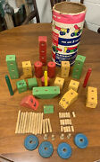 Blockraft Stay-made Wood Construction Blocks Vintage Toy 100 Toys In 1 Tinker 52