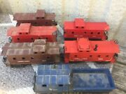 Lionel O Scale 6 X Mega Deal Of Assorted Cabooses As Shown 619/6017/6047/6057