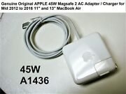Original 45w Charger For Macbook Air A1465 A1466 Md223ll/a Md224ll/a Used A1436
