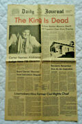 Elvis Presley The King Is Dead Tupelo Daily Journal, August 17,1977,his Hometown