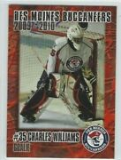 2009-10 Des Moines Buccaneers Ushl Charles Williams Indy Fuel