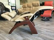 Human Touch Omni Motion Pc-610 Power Perfect Chair Recliner Sand Leather Walnut
