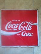Vintage Coke Advertising Sign Metal Enamel Mexican 80andrsquos Collectible