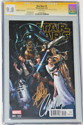 Star Wars 1 Cgc Ss 9.8 Signed 2x By Stan Lee And Scott Campbell Variant Cover