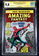 True Believers Amazing Fantasy 15 Cgc 9.8 Ss Excelsior By Stan Lee Spider-man