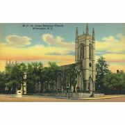 Curteich Chicago And039c.t. Art-colortoneand039 Linen Postcard And039st. James Episcopal Church