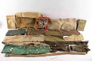 Vintage Boy Scout Sash Patches Books Backpack And Army Hats Belt Assortment