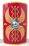 Roman Soldier Gladiator Red Shield 36and039and039 Role Play Toy With Hand Grip