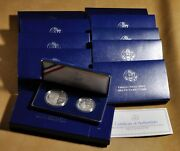 10 - 1993 Proof Bill Of Rights U.s. Commemorative Silver 2 Piece Sets W/ Ogp