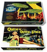 Marx Earth Vs. The Flying Saucers Or Queen Of Outer Space Play Set Box
