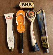 5x Beer Tap Handle Lot Paulaner Duvel Port Brewing Bns Ballast Point San Diego