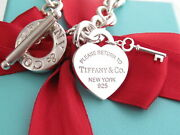 And Co Silver 925 Return To Heart Key Toggle Bracelet 7