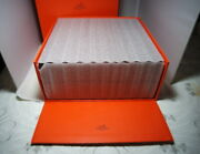 Hermes Ex-large And Heavy Wood And Suede Watch Jewelry Display Case Extremely Rare