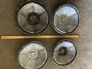 1965 - 1966 Vintage 13 Hubcap Ford Mustang Wheel Covers Black Center Cap