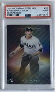 Christian Yelich 2013 Bowman Sterling 38 Rookie Card Refractor /199 Psa 9 Mint