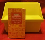 Vintage Betty Crocker Step-by-step Recipes Card Library Yellow Box 1976 W/ Index