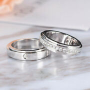 0.35 Ct Valentine Gift Real Diamond His And Her Band Solid 18k White Gold All Size