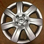 16 Silver Hubcap Fits Toyota Camry 2010-2011 Wheel Cover