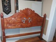 Hand Carved Wood Headboard Queen Size unique New, Antique , Custom
