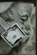 Art Painting Money Talks A3 Paper With Frame