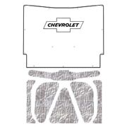 Hood Insulation Pad Heat Shield For 63 Chevrolet Under Cover W/g-010 Chev Bowtie