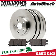 Front And Rear Disc Brake Rotors And Performance Ceramic Pads Kit For Chevy Malibu