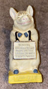 Antique Lead The Wise Pig Coin Bank Designed By Jessie M. Nelson In 1929